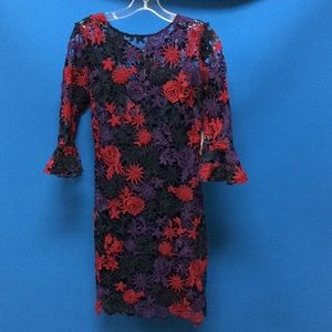 Laced Dress with flower patters